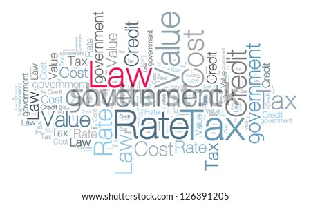 Law concept in word cloud - stock photo