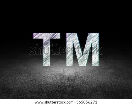 Law concept: Trademark in grunge dark room - stock photo