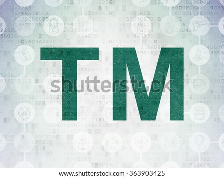Law concept: Trademark on Digital Paper background - stock photo