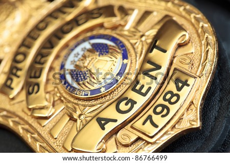 Law enforcement badge - stock photo