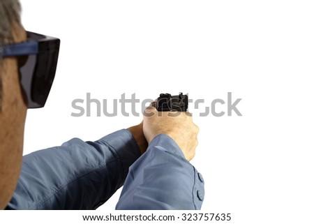 Law Enforcement Firearm Handgun Weapon Training - stock photo