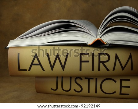 Law firm (book titles) - stock photo