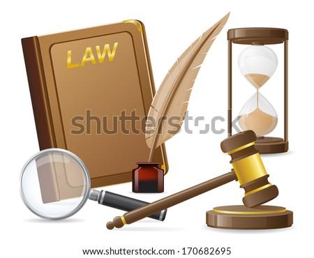law icons illustration isolated on white background - stock photo