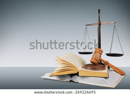Law, Justice, Book. - stock photo
