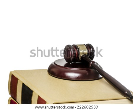 Law legal issue concept image, gazel on law books - stock photo