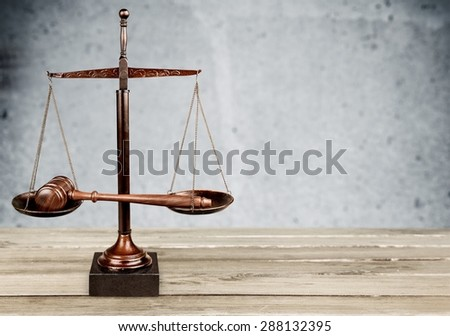 Law, Legal System, Scales of Justice. - stock photo