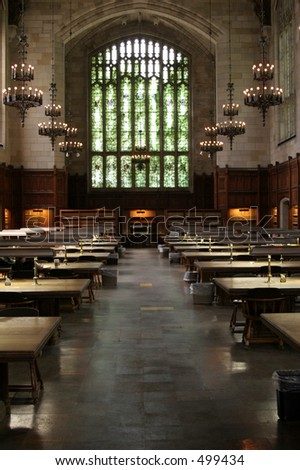 Law library at the University of Michigan - stock photo