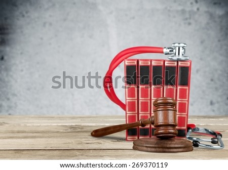 Law, medical, business. - stock photo