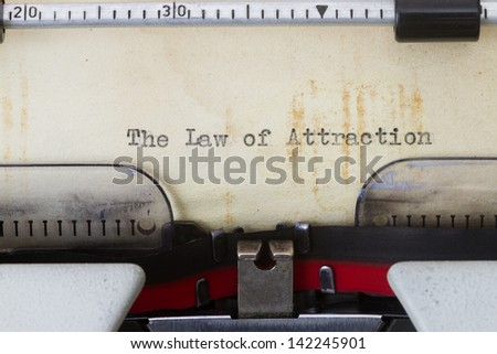 Law of attraction - stock photo