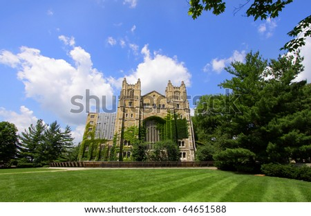 Law school library in University of Michigan - stock photo