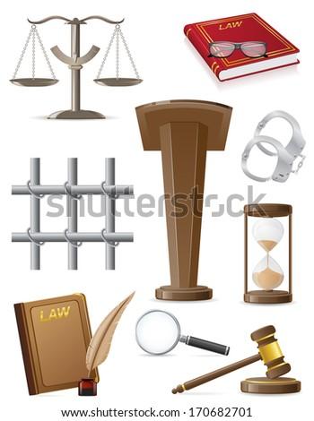 law set icons illustration isolated on white background - stock photo