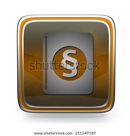 Law square icon on white background