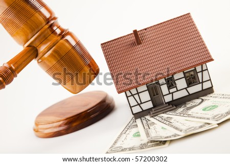 Law theme, mallet of judge! - stock photo