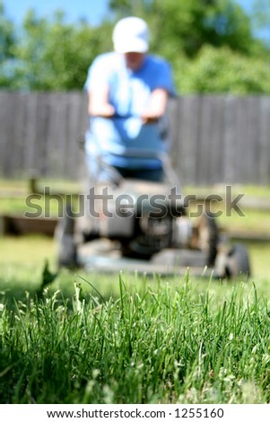 Lawn and Garden - Grass Mowing - stock photo