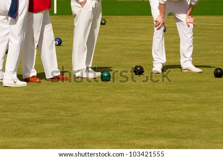 Lawn bowls - stock photo