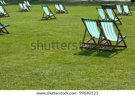 Lawn Chairs In The Park