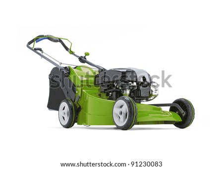 Lawn mower 01 - stock photo