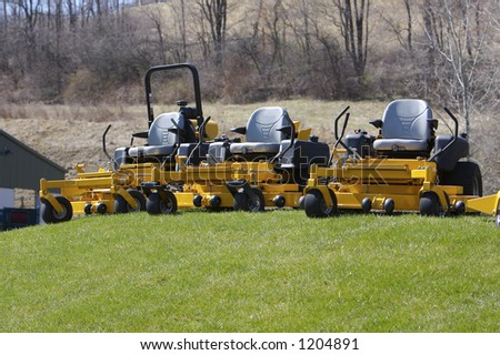 Lawn Mowers - stock photo