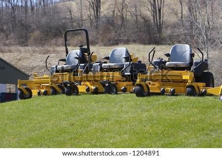 Lawn Mowers - stock photo