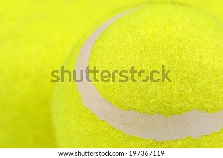 Lawn Tennis Ball Close-Up