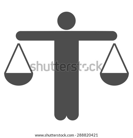 Lawyer icon from Business Bicolor Set. This flat raster symbol uses gray color, rounded angles, and isolated on a white background. - stock photo