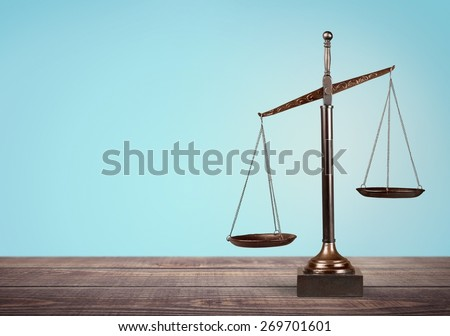 Lawyer, scale, law. - stock photo