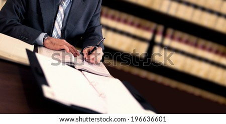 Lawyer working - stock photo