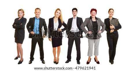 Lawyers standing together as a business team group