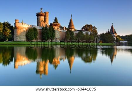 Laxenburg Water Castle, Lower Austria - stock photo