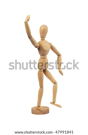 lay figure isolated on white background