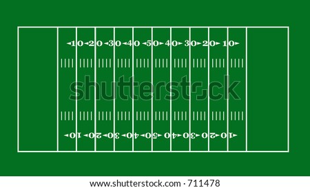 lay-out of an American football field - stock photo
