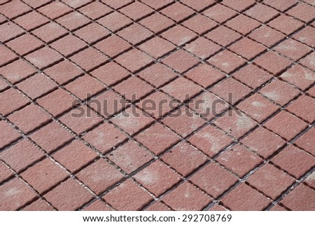 Lay the floor with tile - stock photo