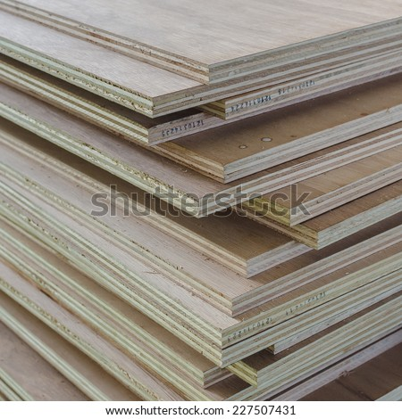 Layer of Industrial Plywood as background image - stock photo