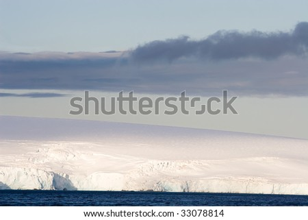 layer of snow and ice - stock photo