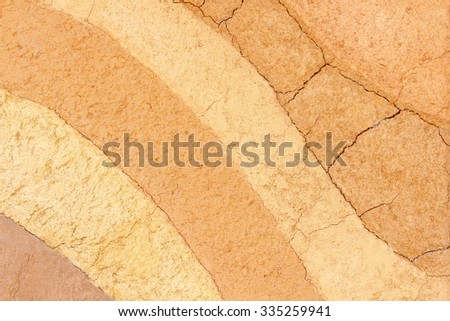 Layer of soil underground background - stock photo