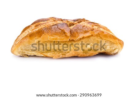 Layered bun with cheese isolated on white background - stock photo