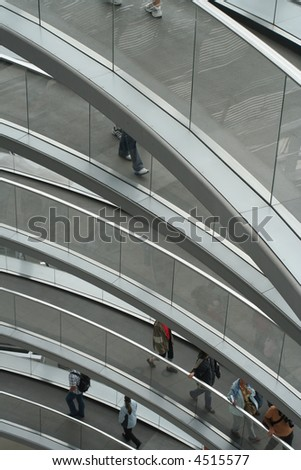 layered walkway - stock photo