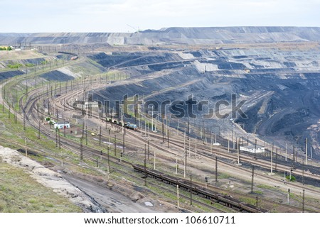 Layers of coal mine