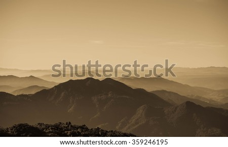 Layers of mountain - stock photo