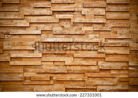 layers of wood plank wall  - stock photo