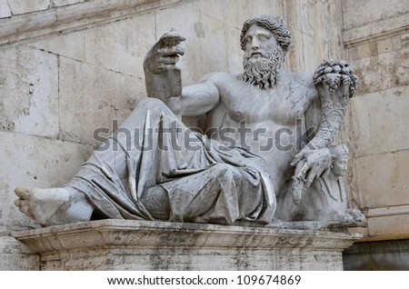 Laying Statue in Rome