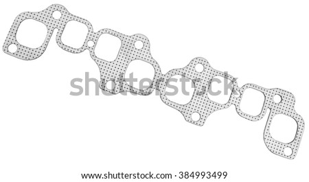 Laying the engine manifold on a white background - stock photo