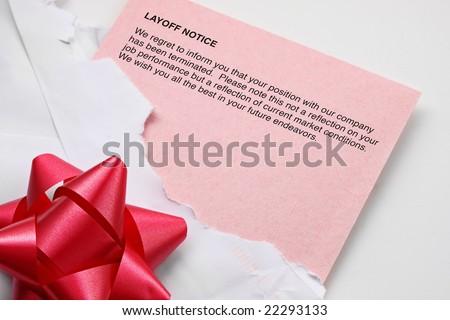 Layoff Notice - stock photo