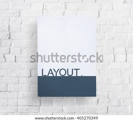 Layout Arrangement Design Creative Editing Concept - stock photo
