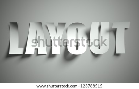 Layout cut from paper, background - stock photo