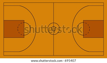 layout of a basketball field