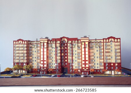 layout of an apartment building, architecture concept - stock photo