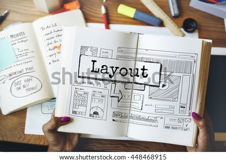 Layout Template Website Design Web Concept - stock photo