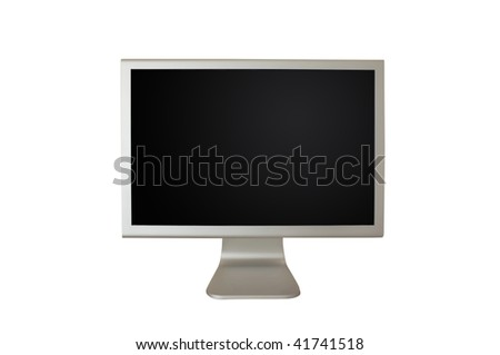 LCD computer monitor with blanked screen canvas