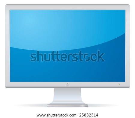 LCD Display. Look the vector version of this illustration in my portfolio. - stock photo